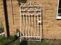 HUGE DECORATIVE BEAUTIFULLY AGED HEAVY METAL GARDEN GATE