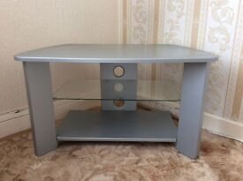 TV/DVD STAND, perfect condition featuring glass shelf and base shelf to take other media items.