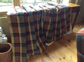 """Hand made , check curtains 48 """" by 48"""", thermally lined"""