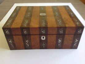 Antique jewellery/sewing box