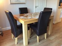 Stokers Extending Rubik Dining Table and 4 chairs