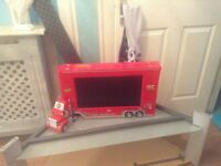 Car bed ,Disneys cars tv/dvd combi & few accessories