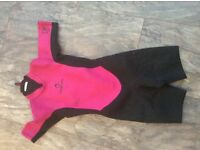 Tribord pink and black Girls wet suit