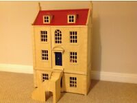 Stunning Marlborough wooden dolls house complete with figures and furniture £80