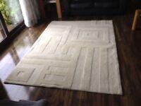 Cream floor rug large
