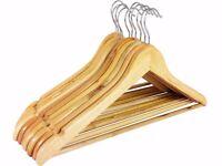 100 x wooden hangers