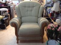 Upholstered Manual Recliner Chair