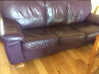Leather Bed Settee