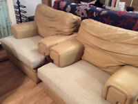 GPLAN LEATHER ARMCHAIRS
