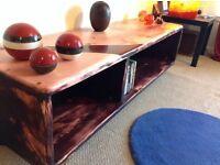TV unit, solid wood. Unique design.