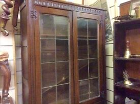 Solid oak vintage cupboard