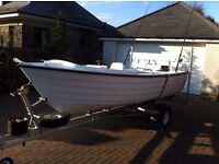 Highlander 15ft Fishing Boat with Outboard and Trailer - in excellent condition throughout