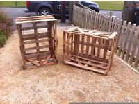 Reclaimed wooden crates great for small woodsheds