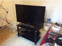 "Samsung 2010 LCD 40"" TV, Samsung 3D smart Blu-ray player, and stand for sale"