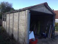 Sectional concrete single garage