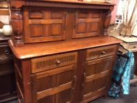Lovely solid oak vintage sideboard
