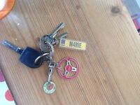 Found car and house keys