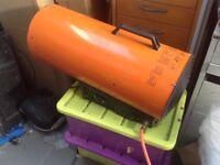 Propane gas blower fan