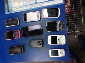 10 phone bundle spares or repair