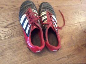 Adidas football boots, size 5