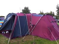 LARGE TENT FOR SALE 8 BIRTH CAN BE 12 BIRTH WITH ADDITIONAL SLEEPING APARTMENT not supplied .