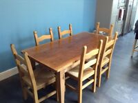 Solid Pine Dining Table & 6 Dining Chairs at a Bargain Price. Immaculate condition