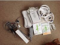Wii and wii fit board and games