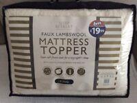 Faux Lambswool Mattress Topper King Size