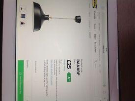 Ikea black pendant lights Ranarp