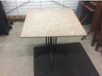 Marble top cafe/ bar tables