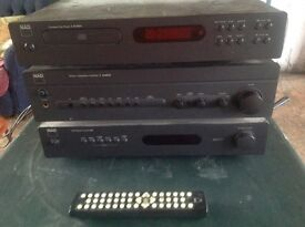 NAD stereo stack. CD, amp, tuner.
