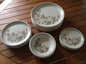Assorted M&S Autumn Leaves crockery set . 23 pieces in total