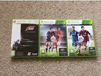 Xbox 360 games Fifa and fora motorsport