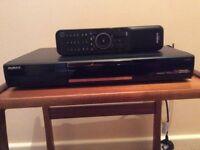 Humax PVR 9300 set top box + recorder + remote control