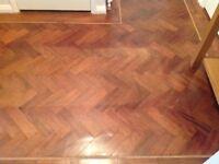 Original old parquet tiles flooring