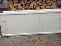 2 white radiators, free to collect