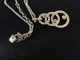 Stunning genuine Swarovski circle necklace