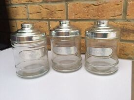 Tea,Coffee & Sugar Jars