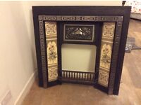 Excellent condition fireplace inset with tiles