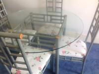 Glass table & 4 chairs FREE LOCAL DEL