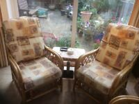 Conservatory furniture - 2 seat sofa and two chairs