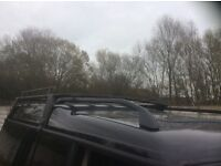 Land Rover discovery roof rack in black .