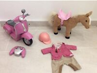 Baby Born remote controlled scooter & Baby Born interactive horse with Jockey outfit