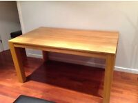 Solid wood dining table (£40 Ono)