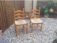 Pine chairs (pair)