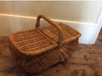Lovely vintage wicker picnic basket from Habitat