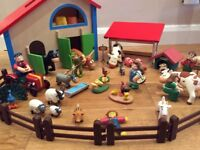 Toy Barn and Animals