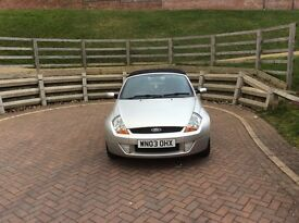 Ford streetka. Good condition. 10 months MOT. Some service history. Leather interior.