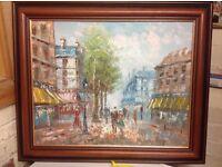 Parisienne Street Oil Painting