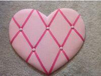 Pink heart girls notice board